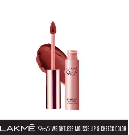 LAKMÉ 9TO5 WEIGHTLESS MOUSSE LIP AND CHEEK COLOR