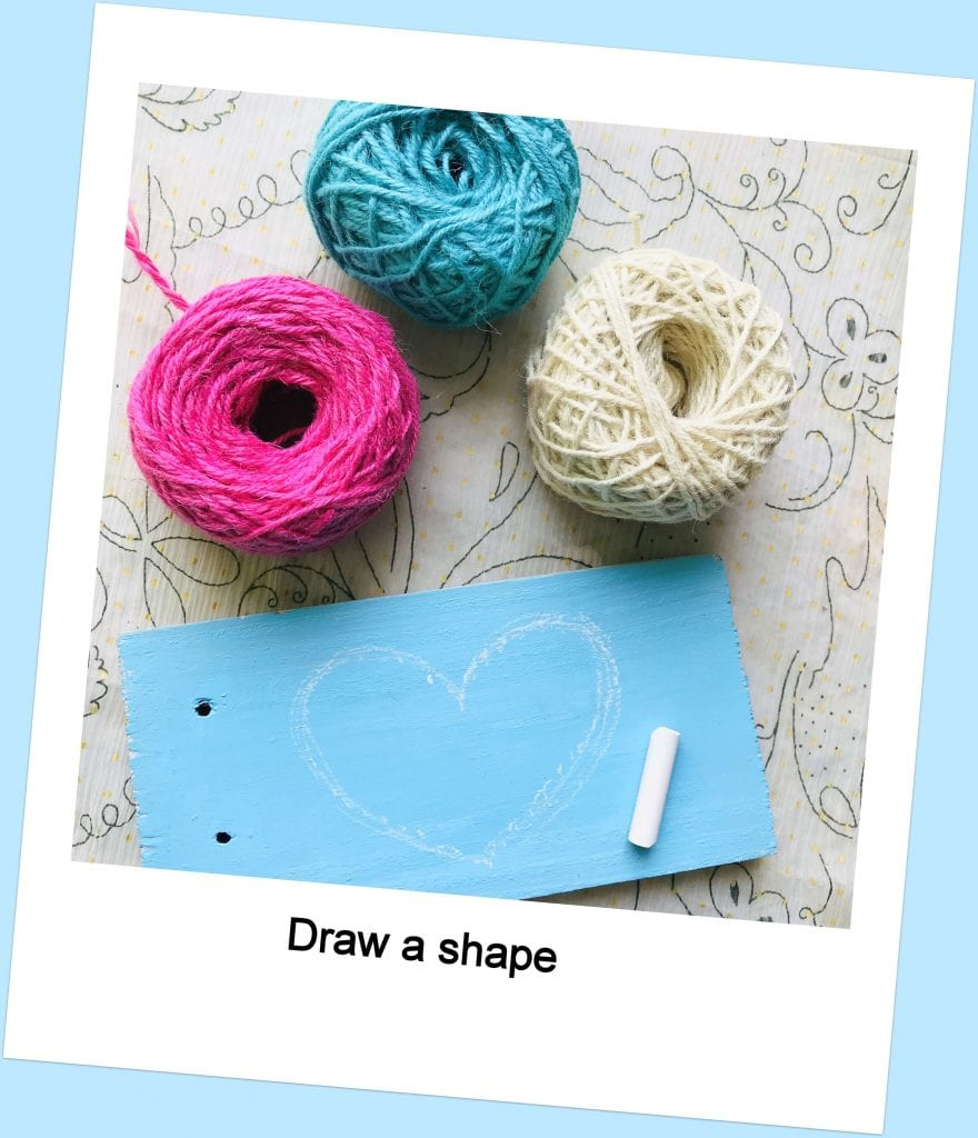 yarn, board & Chalk