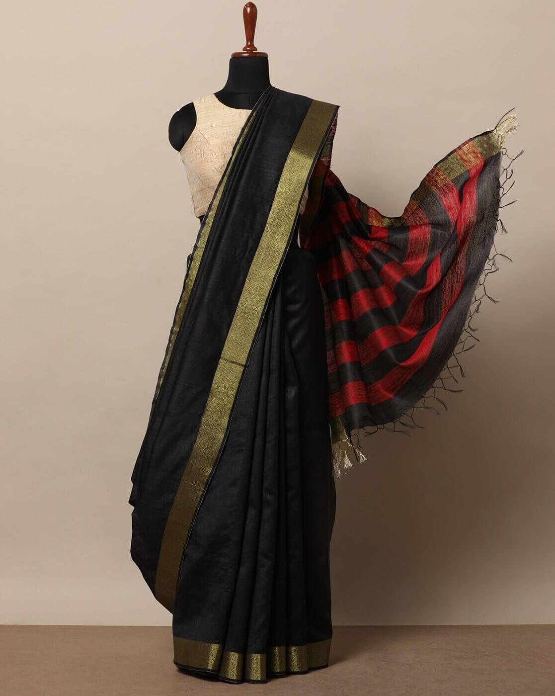 Tussar Silk Sari