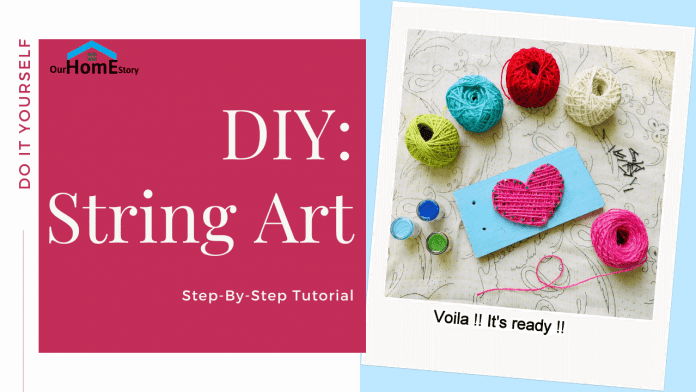 DIY String art - ourhomestory