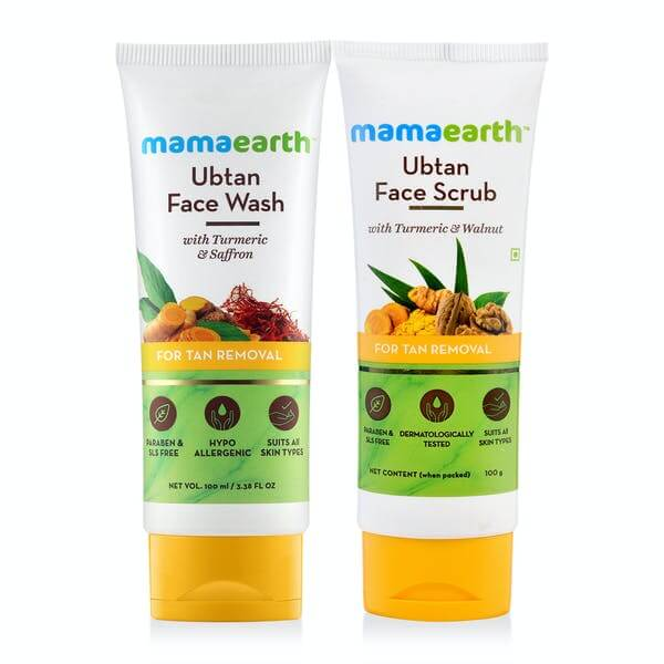 Mamaearth Ubtan Face Scrub & Ubtan Face Wash